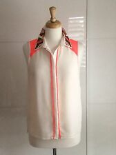 LIMITED COLLECTION by M&S FABULOUS CREAM BEADED BLOUSE Size 12 Party/Holiday