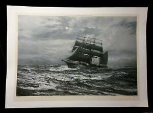 Silvery Night by Montague Dawson, Print