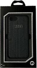 Estilo de Cuero Genuino AUDI A6 Serie Estuche con Cubierta Posterior para iPhone 7 & 8-Negro