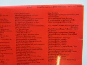 THE BEATLES SGT PEPPERS  1969 UK STEREO TRANSISTIONAL    MONO / STEREO SLEEVE