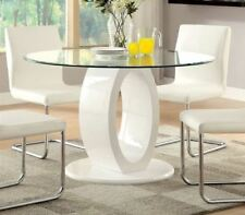 Furniture of America Damore Contemporary High Gloss Round Dining Table