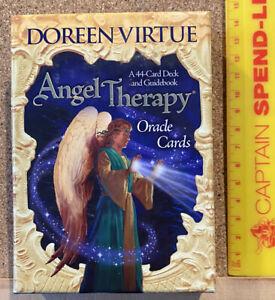 ORIGINAL 2008 ANGEL THERAPY ORACLE 44 CARD TAROT DECK + GUIDEBOOK DOREEN VIRTUE!