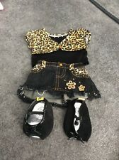 Build a bear outfit, top and skirt with shoes.