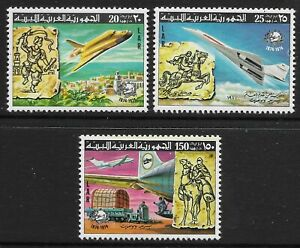 STAMPS-LIBYA. 1974. Centenary of The U.P.U. Set.  Michel: 584/86. MNH.