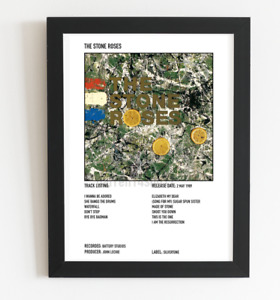 The Stone Roses Posters Polaroid Style Album Cover Poster A3 / A4 Student Gift