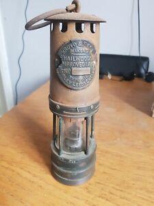 Vintage ACKROYD & BEST, HaiIwood, improved, Type 1B Miners' Lamp.