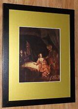 """Incorniciato 12"""" x16"""", REMBRANDT, BIBBIA dipinti, i comandanti dipinti, Joseph accusato"""