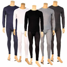 Mens 2PC Thermal Underwear Set Top Bottom Long John Waffle New Johns Pants New
