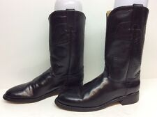 WOMENS TONY LAMA COWBOY LEATHER BLACK BOOTS SIZE 6 A