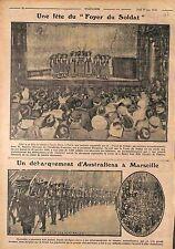 Foyer du Soldat Théâtre Emile Mors Paris Maurice Donnay/Australia Army WWI 1916