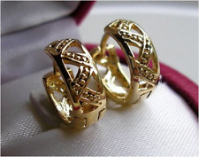 9CT GOLD GF HOOP EARRINGS THESE ARE STUNNING! SILLY PRICE 77!
