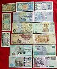 *Egypt 10 Paper Money Rare (Unc) Egyptian Notes Collectian Set*