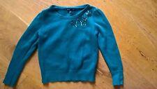 Gap Kids Bright Jade Green Beaded Jersey Jumper 6-7 y 116 cm