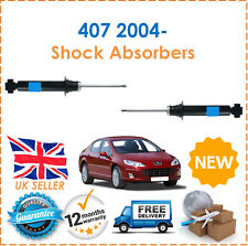For Peugeot 407 2004- Two Front Gas Shock Absorbers Damper Set Pair x2 New