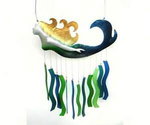 Wind Chime MARINA THE MERMAID Handcrafted Glass with Metal (GEBLUEG465)