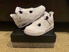 Nike Air Jordan 4 Retro Metallic Purple White GS | SIZE 7Y | In Hand💥