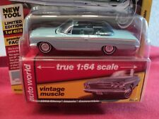 Auto World  1962 Chevrolet Impala Convertible  1/64 scale NIB  1of 4128 Blue
