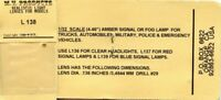 M.V. Products 1:32 Amber Signal Or Fog Lamp For Vehicles  #L138