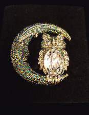"""Heidi Daus """"Harvest Moon"""" Brooch Pin - New in Box - SOLD OUT, Sold new for $190"""