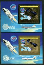 Centre Afrique 1980 Shuttle Boeing 747 Space NASA  Gold Or Michel Bloc 78 A+B