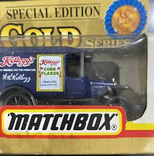 """KELLOGGS SPECIAL EDITION GOLD SERIES MODEL """"T"""" FORD MATCHBOX TOY."""