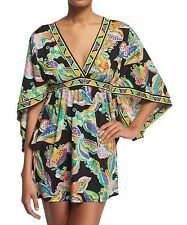 NWT TRINA TURK Size XS Sea Garden Floral Tunic Swimsuit Cover Up Dress $140