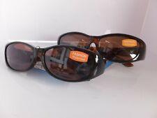 2 Pair Solar Shield Fashion Polarized Sunglasses Fits Over Glasses, Size Medium