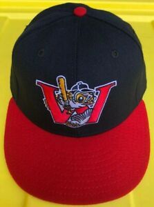 Vintage 90s Winnipeg Goldeneyes New Era Pro Model 100% Wool Hat Cap USA Made