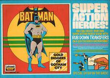 BATMAN UK LETRASET RUB-ON TRANSFER: GOLD DIGGERS OF GOTHAM CITY