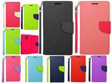 For Samsung Galaxy Note Edge Premium Leather 2 Tone Wallet Case Flip Phone Cover