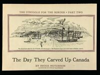 1955 Duncan MacPherson The Day They Carved Up Canada Print Art 268A