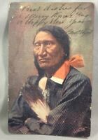 1906 ROCKY BEAR Wounded Knee Indian Postcard ANTIQUE Native American Undivided