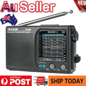 AU❤❤TECSUN R-909 Portable Radio FM MW(AM) SW(Shortwave) 9 Bands World Receiver!!