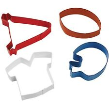 Football Themed 4pc Cookie Cutter Set Wilton #1263 - New