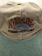 River Of Life Fishing Outfitters Adjustable Strap Men's Fishing Hat.