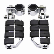 "2x 1 1/4"" Highway WING Rider Foot Pegs Footrest Clamps For Honda Shadow Valkyrie"