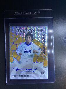 2020-21 Panini Mosaic La Liga Ivan Zamorano Auto Silver Prizm Scripts Autograph