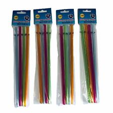 Gourmet Home Products 16 Reusable Plastic Straws Multi Color 9
