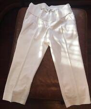 Maternity A PEA IN THE POD Jeans Medium Dress CROP DemiPanel Cropped CAPRI Pants