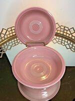 Fiesta Rose Pink Cereal Bowls Retired Homer Laughlin China Co.Vintage #N1