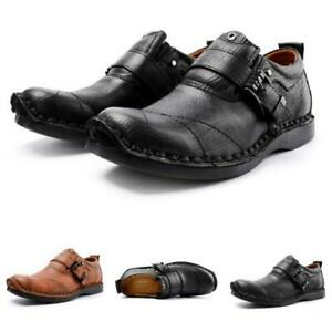 Mens Faux Leather Business Leisure Shoes Round Toe Outdoor Walking Sports Work L