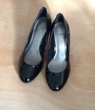 TU Ladies Black Patent Court Shoes size 3