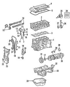 Genuine Nissan Engine Camshaft Follower 13231-EY03A