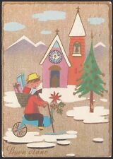 AA4809 Buon Anno - Cartolina postale augurale - Postcard
