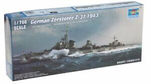 German Destroyer Zerstorer Z-37 1943 Battleship Plastic Kit 1:700 Model 5791