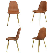 4 x brown padd seat home furniture kitchen dining office working
