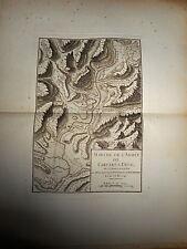 17 - CARTE MAP PLANS Campagne ITALIE 1745 & 1746 Camp CARCARÉ DÉGO ROCHETTA 1775