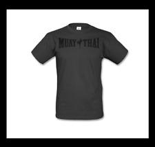 Muay Thai camisa talla L negro carbon kickboxing MMA boxeo Fighting Fitness