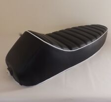 VESPA SEAT SPORTS SEAT  STYLE - PE PX LML 2 STROKE BLACK WITH WHITE PIPING
