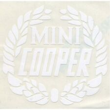 CLASSIC MINI WHITE COOPER LAUREL DECAL MSA1127 BOOT LID REAR QUARTER ROVER AG13